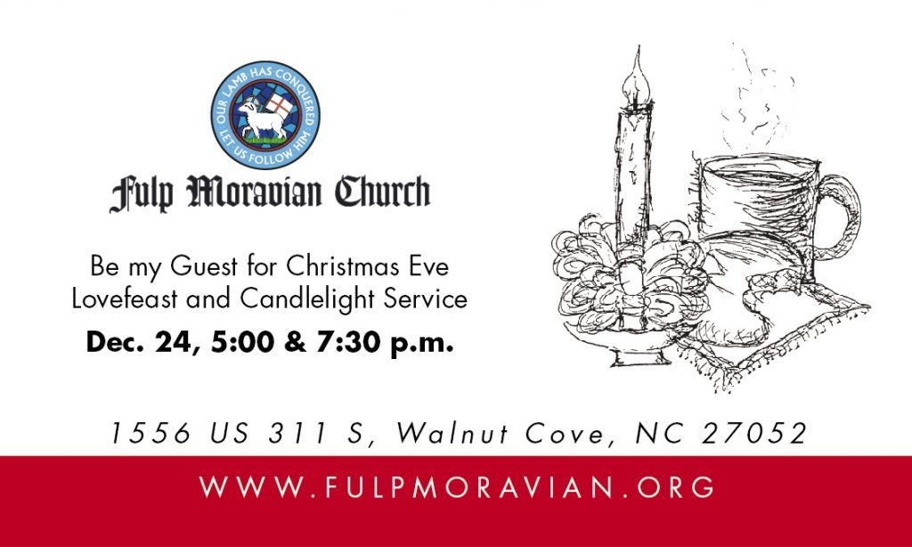 Lovefeast & Candlelight (1st) Service @ Fulp Moravian Church | Walnut Cove | North Carolina | United States